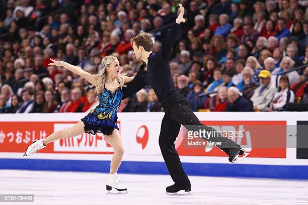 Penny Coomes and Nicholas Buckland of Great Britain skate in Free Dance Program during Day 4 of the ISU World Figure Skating Championships 2016 at TD...