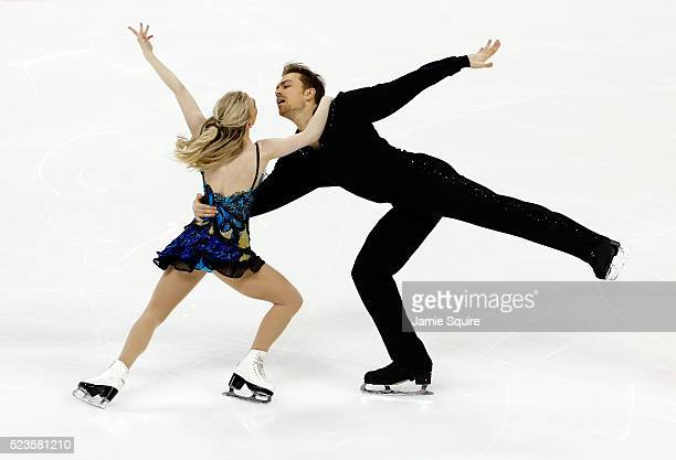Penny Coomes and Nicholas Buckland of Team Europe compete in their Free Dance routine on day 2 of the 2016 KOSE Team Challenge Cup at Spokane Arena...