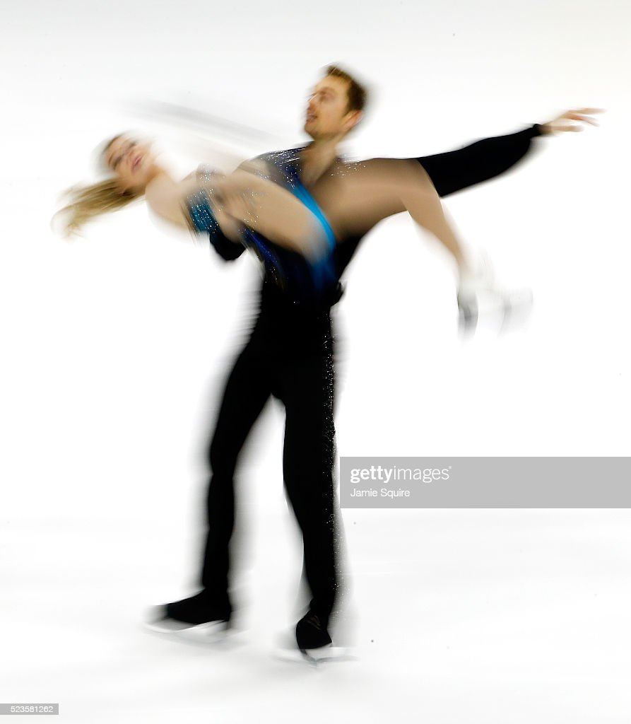 Penny Coomes and Nicholas Buckland of Team Europe compete in their Free Dance routine on day 2 of the 2016 KOSE Team Challenge Cup at Spokane Arena on April 23, 2016 in Spokane, Washington.