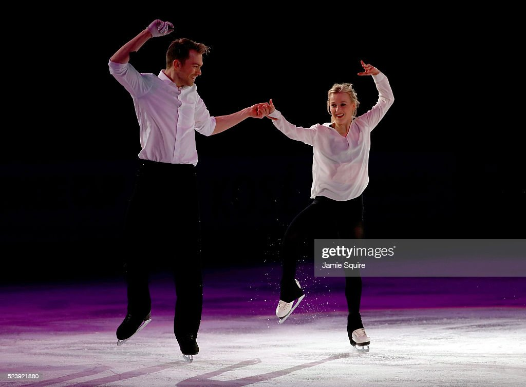 Penny Coomes and Nicholas Buckland of Team Europe perform during an exhibition on day 3 of the 2016 KOSE Team Challenge Cup at Spokane Arena on April 24, 2016 in Spokane, Washington.