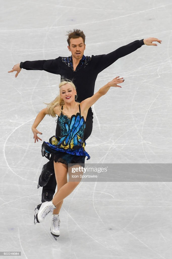 Penny Coomes and Nicholas Buckland (GBR) skate in the free dance of the Ice Dancing competition during the 2018 Winter Olympic Games at the Gangneung Ice Arena on February 20, 2018 in PyeongChang, South Korea.
