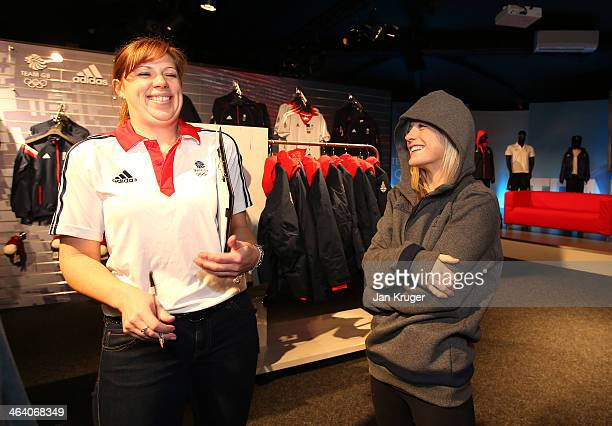 Penny Coomes of Great Britain is fitted with the Olympic kit during the Team GB Kitting Out ahead of Sochi Winter Olympics on January 20 2014 in...