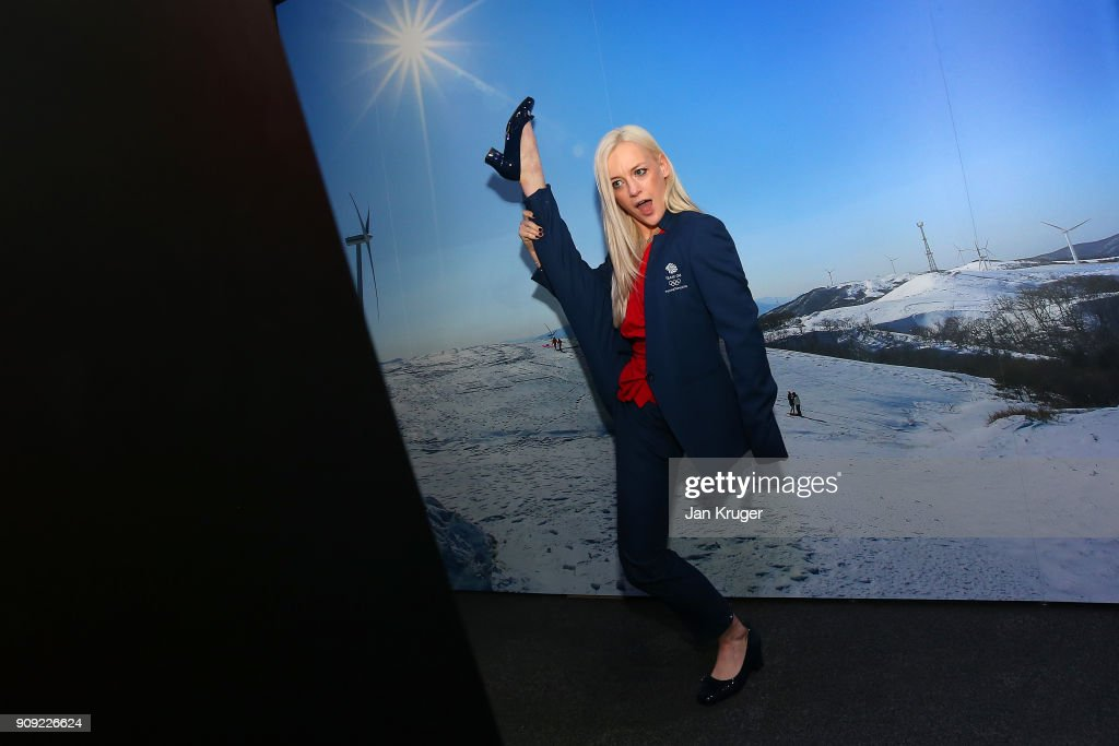 Penny Coomes poses during the Team GB Kitting Out Ahead Of Pyeongchang 2018 Winter Olympic Games at Adidas headquarters on January 23, 2018 in Stockport, England.