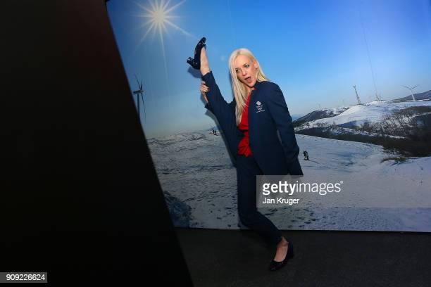 Penny Coomes poses during the Team GB Kitting Out Ahead Of Pyeongchang 2018 Winter Olympic Games at Adidas headquarters on January 23 2018 in...