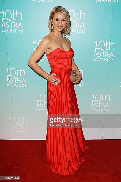 Penny Dennison arrives at the 10th annual Astra Awards at Sydney Theatre on June 21 2012 in Sydney Australia