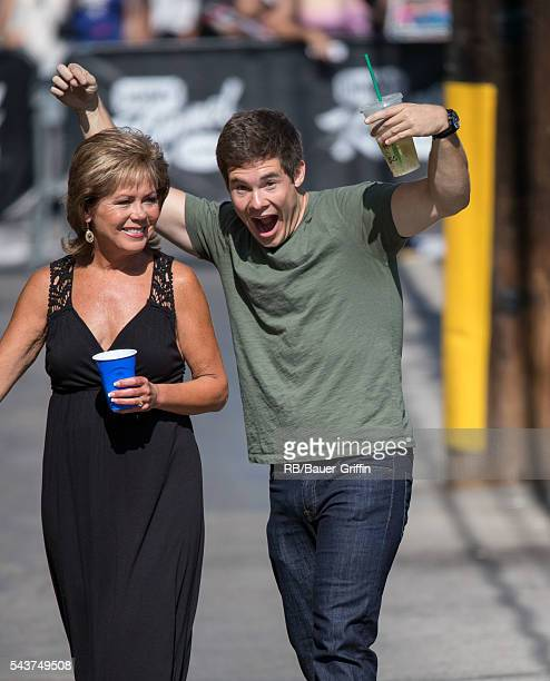 Penny DeVine and Adam DeVine are seen at 'Jimmy Kimmel Live' on June 29 2016 in Los Angeles California