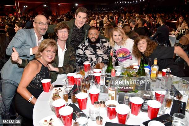 Penny DeVine Dennis DeVine actor Anders Holm host Adam DeVine DJ Khaled actor Jillian Bell and actor Blake Anderson attend the 2017 MTV Movie And TV...
