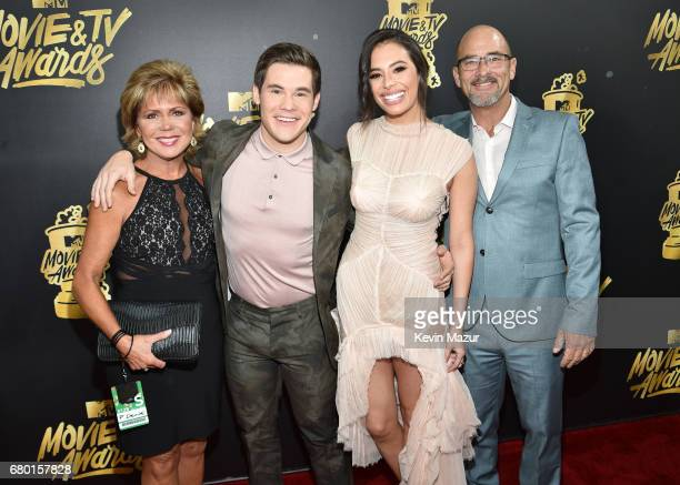 Penny DeVine host Adam DeVine actor Chloe Bridges and Adam DeVine attend the 2017 MTV Movie And TV Awards at The Shrine Auditorium on May 7 2017 in...