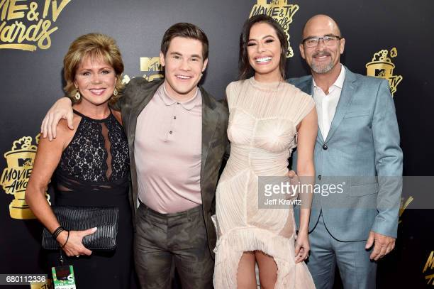 Penny Devine host Adam Devine Chloe Bridges and Dennis Devine attends the 2017 MTV Movie And TV Awards at The Shrine Auditorium on May 7 2017 in Los...
