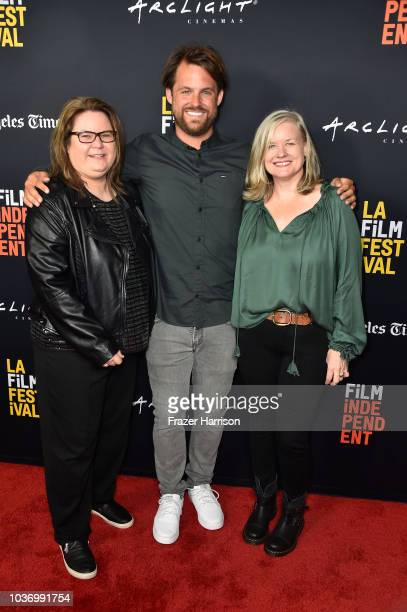 Penny Edmiston Aaron Lieber Jane Kelly Koser attend the 2018 LA Film Festival Opening Night Premiere Of 'Echo In The Canyon' at John Anson Ford...