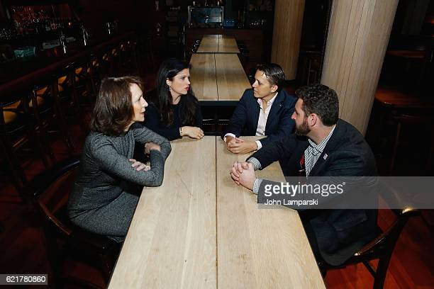 Penny Glazier Chef Alex Guarnaschelli Kristin Rouse and Sam Holmes attend 3rd annual 'Dine Out for Heroes' at Butter on November 8 2016 in New York...