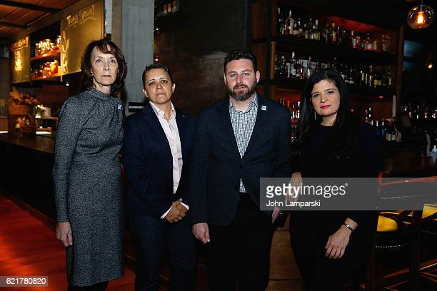 Penny Glazier Kristin Rouse Sam Holmes and Chef Alex Guarnaschelli attend 3rd annual 'Dine Out for Heroes' at Butter on November 8 2016 in New York...