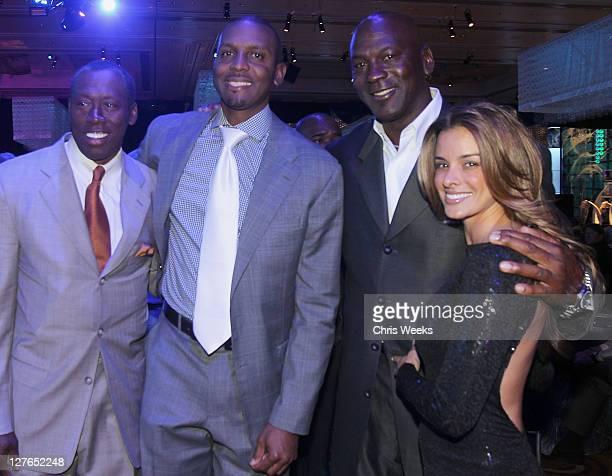 Penny Hardaway and Michael Jordan attend the 10th Annual Michael Jordan Celebrity Invitational Celebration At ARIA Resort Casinoon April 1 2011 in...