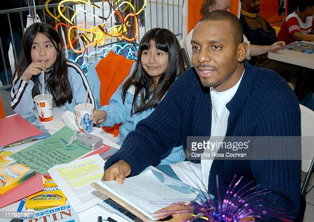 Penny Hardaway and New York City School Children during Miss USA 2003 Susie Castillo and the Knicks Are Honoring Dr Martin Luther King Jr's Birthday...
