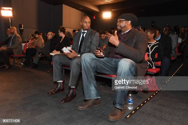 Penny Hardaway and Sam Perkins participates in MLK Sports Legacy Award and a tour of the National Civil Rights Museum on January 14 2018 at the...