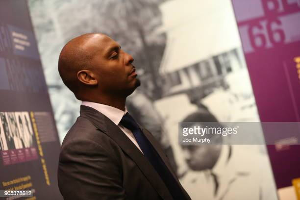 Penny Hardaway tours the exhibits on January 14 2018 at the National Civil Rights Museum at the Lorraine Motel in Memphis Tennessee NOTE TO USER User...