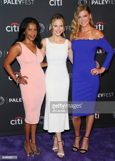 Penny Johnson, Halston Sage and Adrianne Palicki attend The Paley Center for Media's 11th Annual PaleyFest fall TV previews Los Angeles for Netflix...