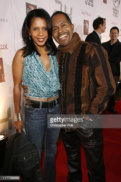 Penny Johnson Jerald and husband Gralin during '24' Season Five DVD Release at Les Deux in Hollywood, California, United States.