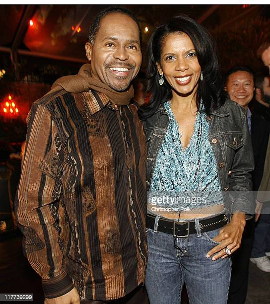Penny Johnson Jerald right and husband Gralin during '24' Season Five DVD Release at Les Deux in Hollywood California United States