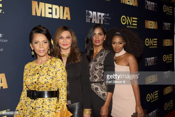 Penny Johnson Jerald Tina KnowlesLawson Denise Boutte and Jillian Reeves attend the Pan African Film Festival screening of Media at Baldwin Hills...