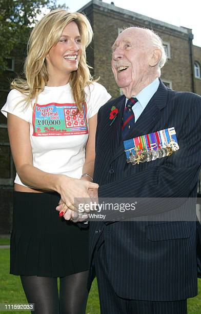 Penny Lancaster and Colonel Stuart Archer OBE British hero of World War II