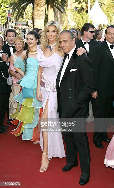 Penny Lancaster and Fawaz Gruosi during 2005 Cannes Film Festival Peindre Ou Faire L'Amour Premiere at Le Palais de Festival in Cannes France