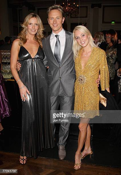 Penny Lancaster and Ian Waite attend the Specsavers Spectacle Wearer Of The Year 2007 Awards held at the Waldorf Hilton Hotel on October 9 2007 in...