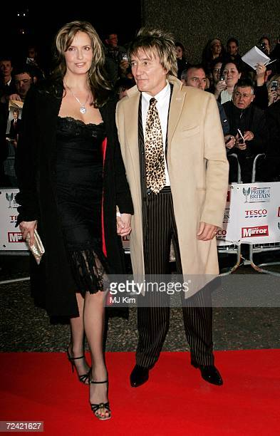 Penny Lancaster and Rod Stewart arrive at the Daily Mirror's Pride Of Britain Awards at ITV Centre on November 6 2006 in London England The annual...