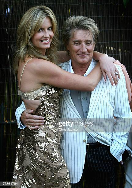 Penny Lancaster and Rod Stewart arrive at the Serpentine Summer party on July 11 2007 in London England
