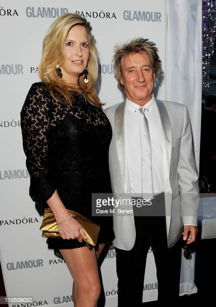 Penny Lancaster and Rod Stewart arrives at the Glamour Women of the Year Awards at Berkeley Square Gardens on June 7, 2011 in London, England.