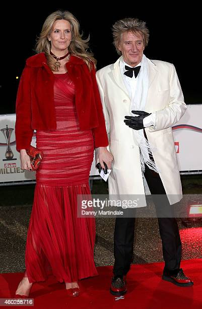 Penny Lancaster and Rod Stewart attend A Night Of Heroes The Sun Military Awards at National Maritime Museum on December 10 2014 in London England