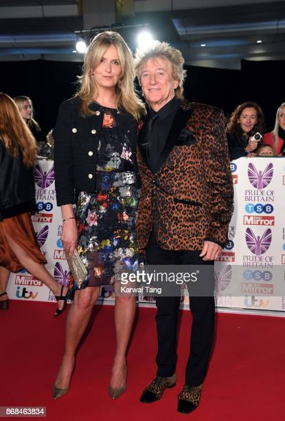 Penny Lancaster and Rod Stewart attend the Pride Of Britain Awards at the Grosvenor House on October 30 2017 in London England