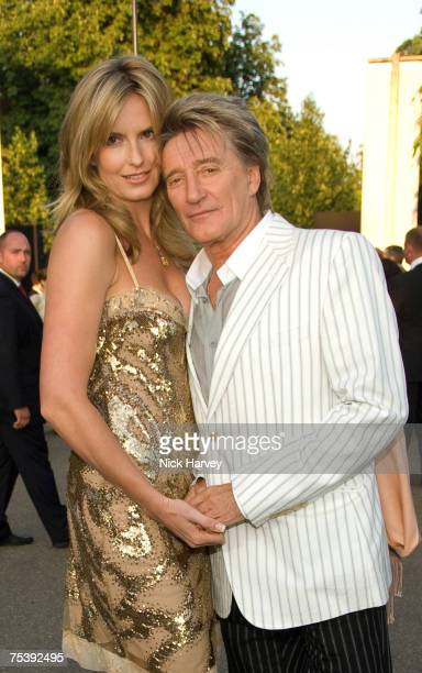 Penny Lancaster and Rod Stewart attend the Serpentine Gallery Summer Party 2007 held at the Serpentine Gallery Hyde Park on July 11 2007 in London
