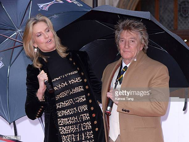 Penny Lancaster and Rod Stewart attend the Sun Military Awards at The Guildhall on January 22, 2016 in London, England.