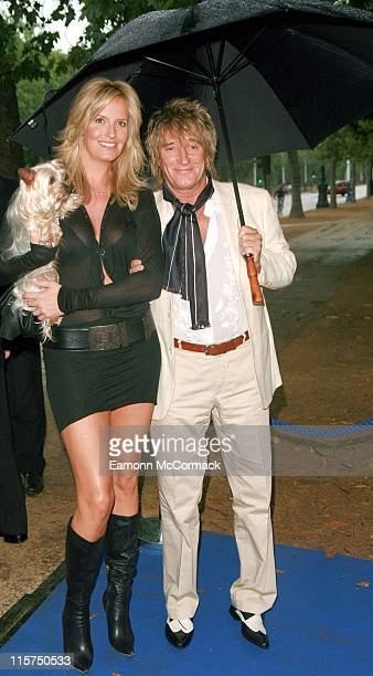 Penny Lancaster and Rod Stewart during 2007 PDSA Pet Pawtraits Calendar Launch at The Mall Galleries in London Great Britain