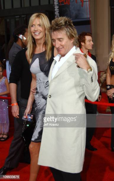 Penny Lancaster and Rod Stewart during 31st Annual American Music Awards Arrivals at Shrine Auditorium in Los Angeles California United States