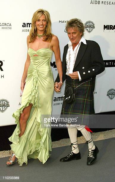 Penny Lancaster and Rod Stewart during amfAR's 'Cinema Against AIDS Cannes' Benefit Sponsored by Miramax and Quintessentially Arrivals at Moulin De...