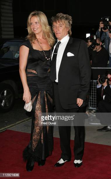 Penny Lancaster and Rod Stewart during GQ Men of the Year Awards Arrivals at Royal Opera House in London Great Britain