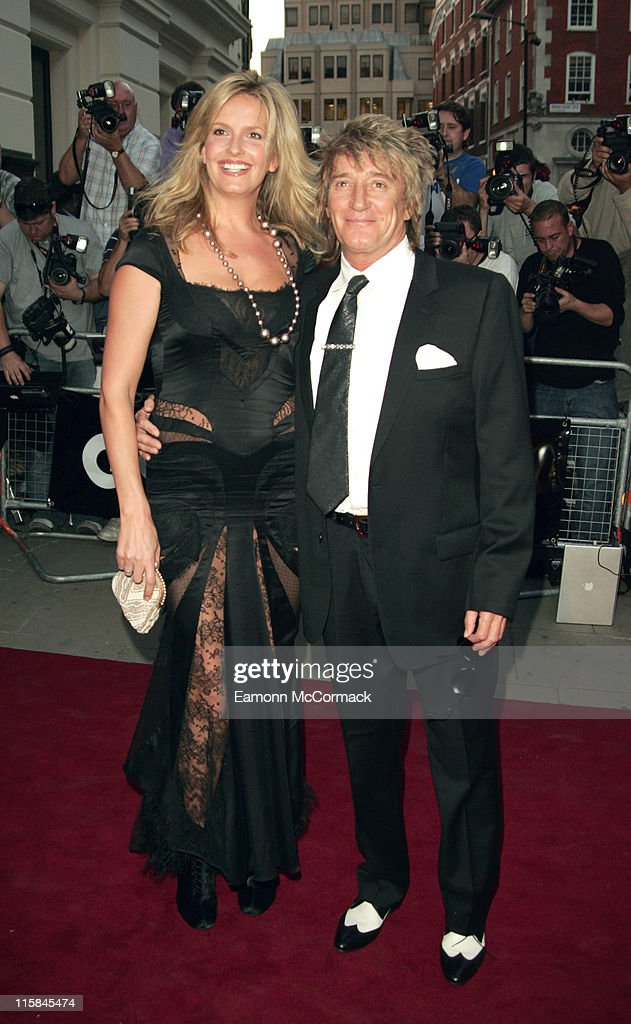 Penny Lancaster and Rod Stewart during GQ Men of the Year Awards - Outside Arrivals at Royal Opera House in London, Great Britain.
