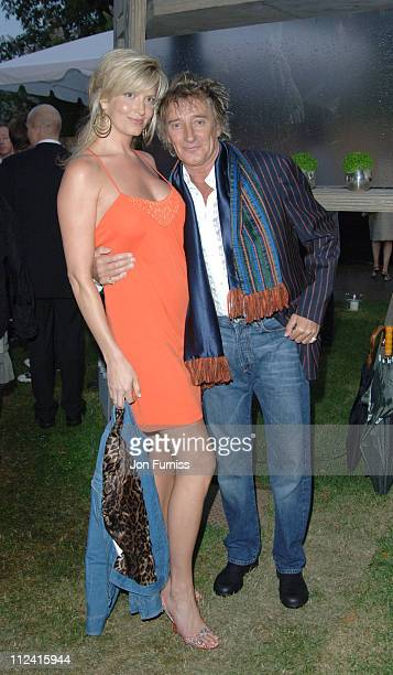 Penny Lancaster and Rod Stewart during The Serpentine Gallery Summer Party Cohosted By Jimmy Choo Inside Arrivals at The Serpentine Gallery in London...