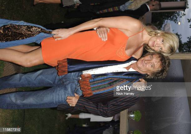 Penny Lancaster and Rod Stewart during The Serpentine Gallery Summer Party Cohosted By Jimmy Choo Inside at The Serpentine Gallery in London Great...