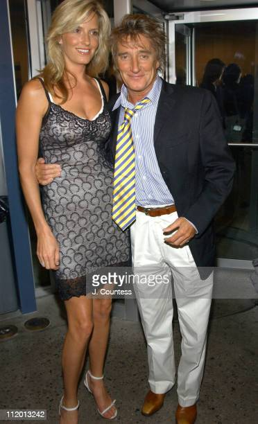 Penny Lancaster and Rod Stewart during 'Thin Line' Opening Night Reception at Dance Theater Workshop in New York City New York United States