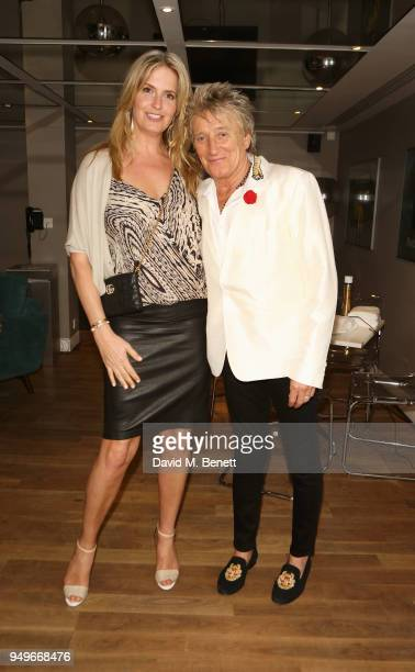 Penny Lancaster and Sir Rod Stewart attend a screening of Rod The Mod at BFI Southbank on April 21 2018 in London England