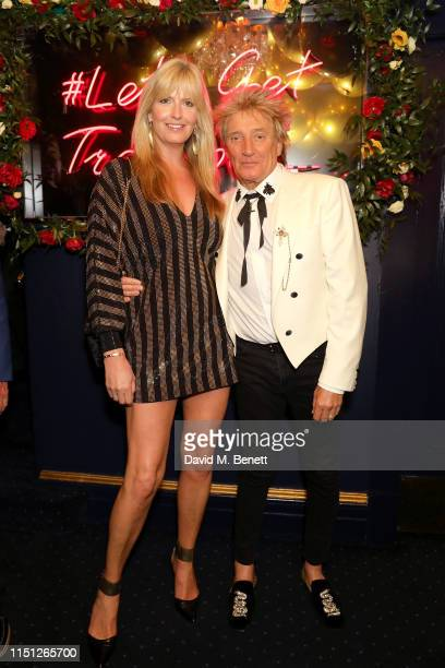 Penny Lancaster and Sir Rod Stewart attend the 50th Anniversary of Tramp on May 23 2019 in London England