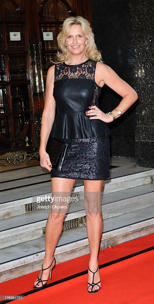 Penny Lancaster arrives at Brits Icon Awards honouring Sir Elton John at London Palladium on September 2, 2013 in London, England.
