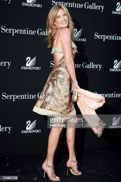 Penny Lancaster arrives at The Serpentine Gallery Summer Party on July 11 2007 in London England