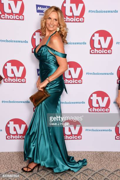 Penny Lancaster arrives at the TV Choice Awards at The Dorchester on September 4 2017 in London England