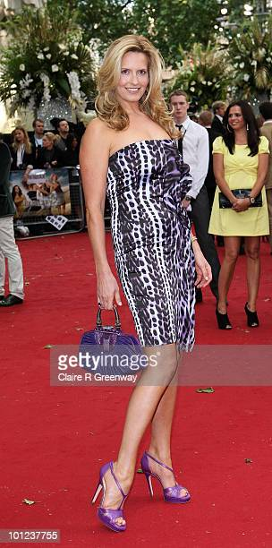 Penny Lancaster arrives at the UK premiere of Sex And The City 2 at Odeon Leicester Square on May 27, 2010 in London, England.