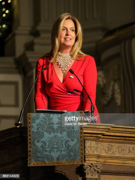 Penny Lancaster attends the Chain of Hope Carol at St Marylebone Parish Church on December 14 2017 in London England