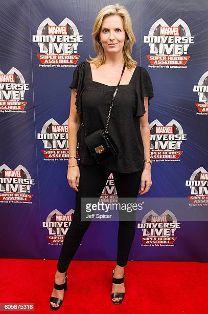 Penny Lancaster attends the opening night of Marvel Universe LIVE At The O2 in London where they experienced an epic live entertainment spectacular...